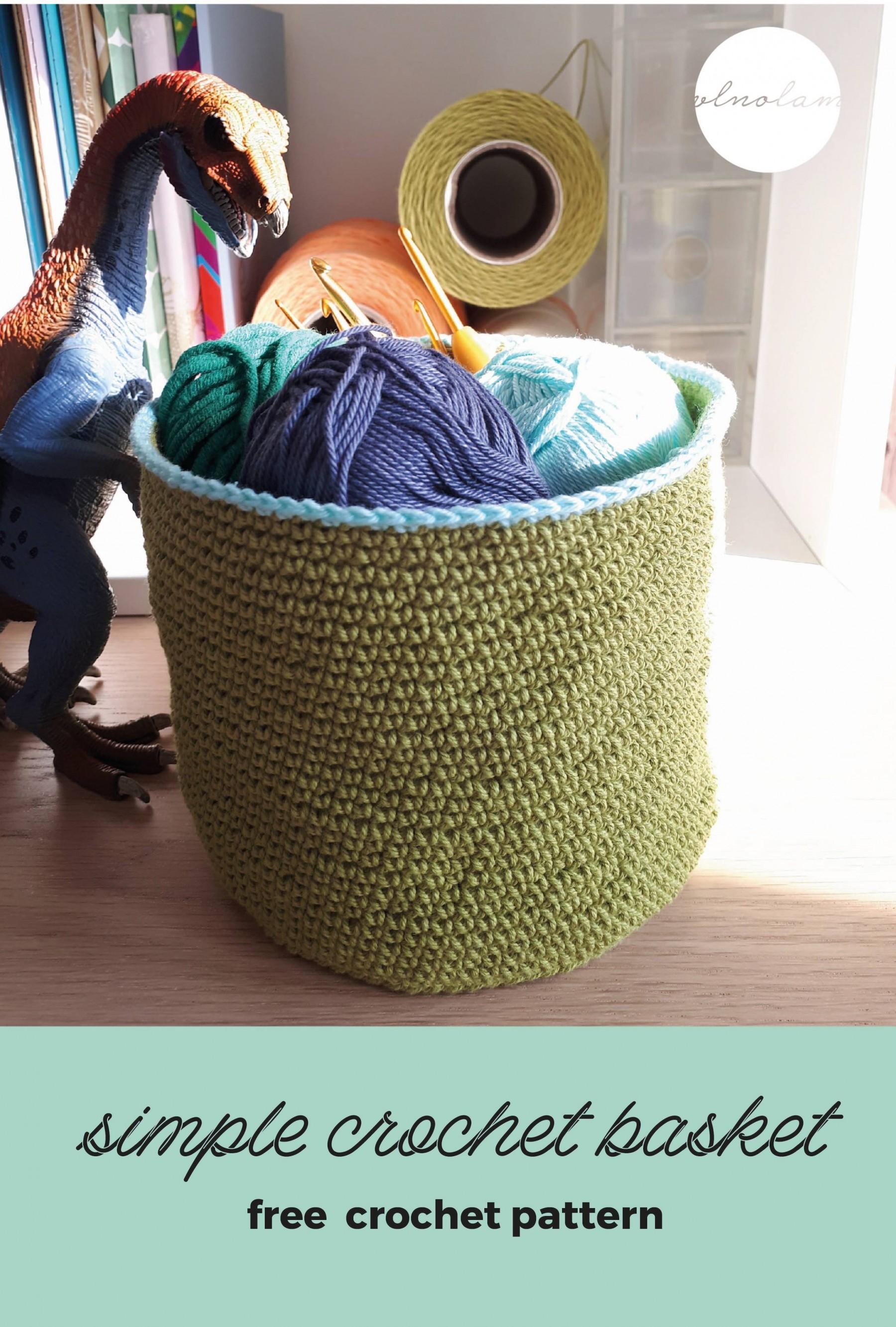 Simple Crochet Mini Basket – Free Pattern | Pilné ruky, čistá myseľ!